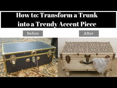 Home Makeover: Old Trunk Transformed Into An Accent Table