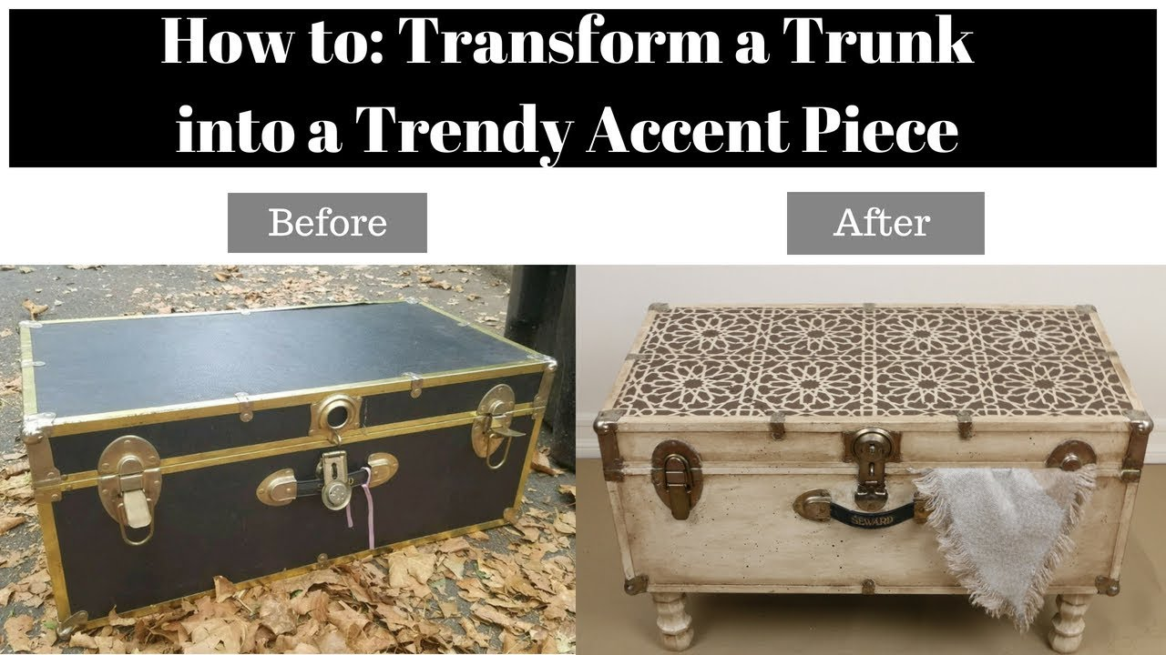 Home Makeover Old Trunk Transformed Into An Accent Table