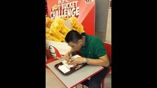 HOT bucket challenge KFC by Owen at KFC kemang
