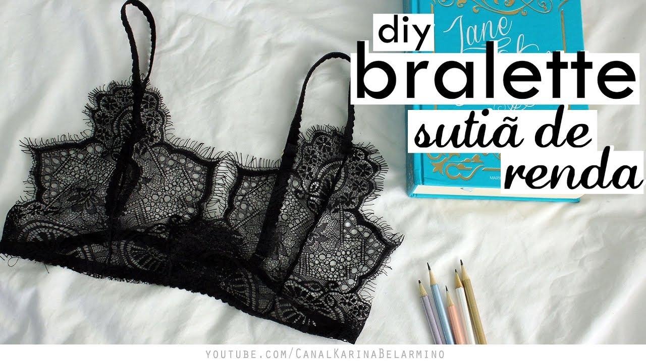 0e9fe0533 DIY Bralette - Sutiã Renda MOLDE GRÁTIS