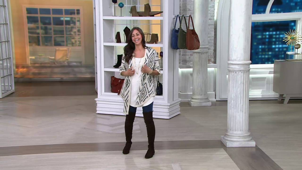 fa7a795ea0e7 Marc Fisher Faux-Suede Over the Knee Boots - Humor on QVC - YouTube