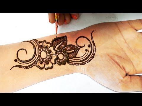 New Stylish Arabic Henna Mehndi Design 2019 - चाहे शादी हो या संगीत, हाथो पे लगाएं ये आसान मेहँदी