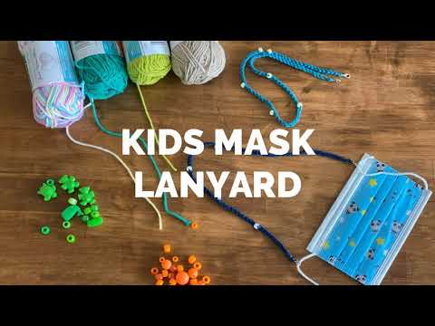 Kids Mask Lanyard - Crochet