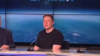 Elon Musk describing Core failure - Falcon Heavy launch - Hitting the ocean at 300 miles/hour