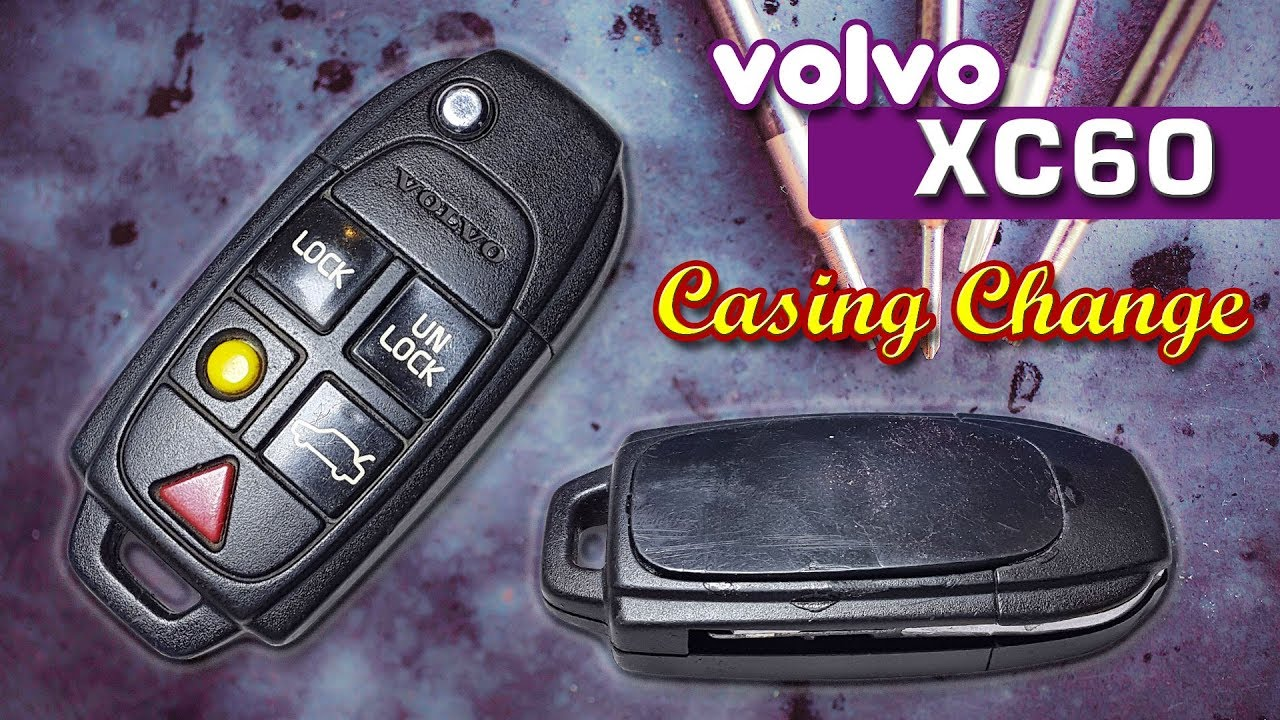 Volvo S60: Locking or unlocking the vehicle with the key blade