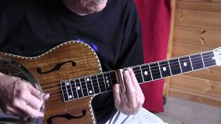 slide guitar lesson in open g tuning - -blue shadows-  tab available
