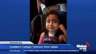 Toddler throws temper tantrum over Minister of Defense Harjit Sajjan