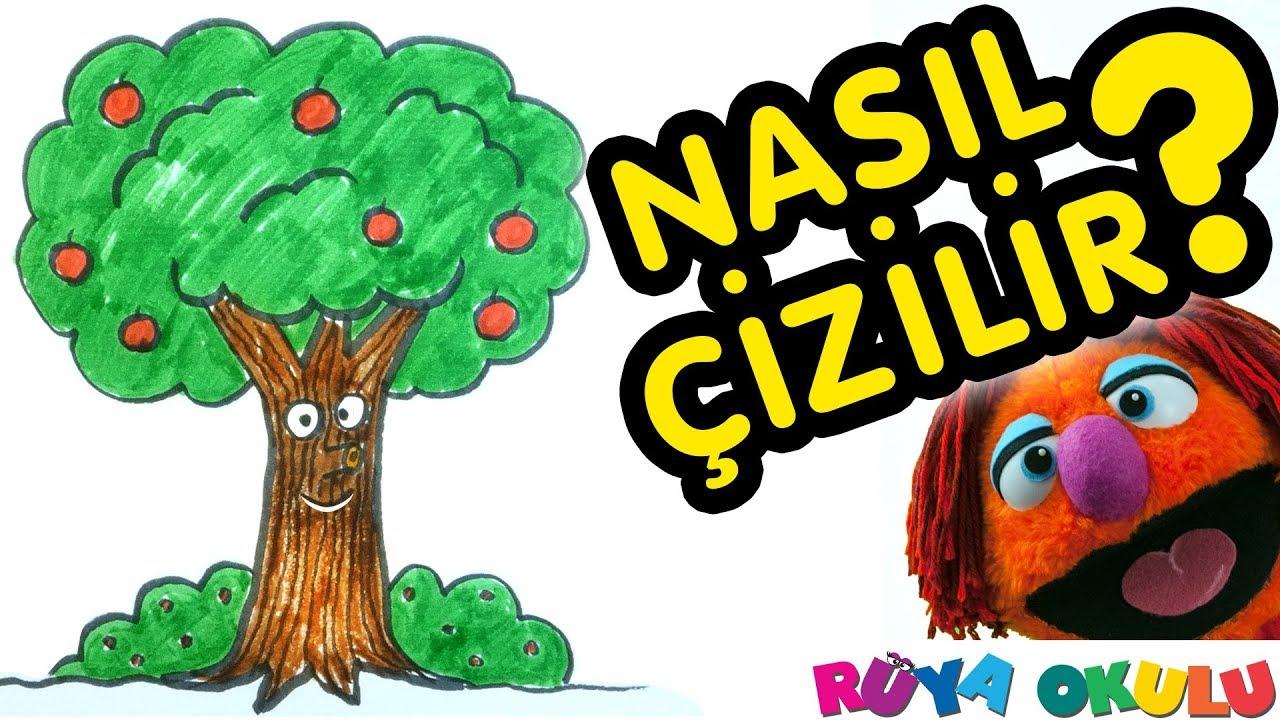 Ağaç Nasıl çizilir Elma Ağacı çocuklar Için Resim çizme