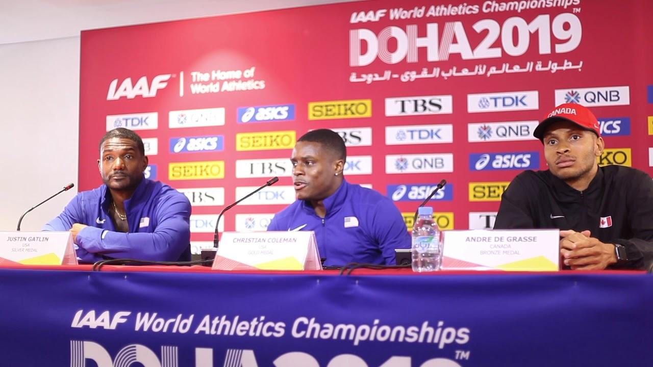 Doha WC 2019 - Men's 100m Final Press Conference