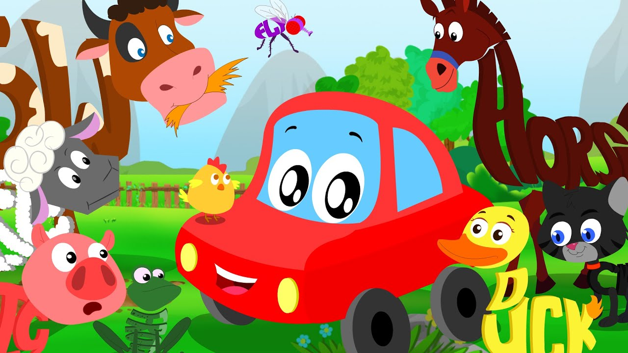 Worksheet Words That Rhyme With Animal little red car rhymes animals sound song in words world learn psst