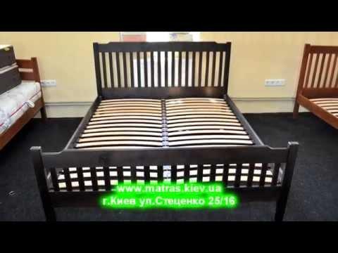 Кровать Льеж Двуспальные кровати из дерева на сайте Matras.Kiev.Ua.