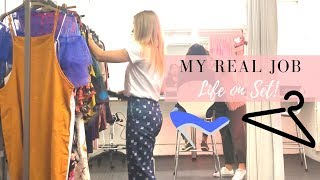 MY REAL JOB EXPLAINED | LIFE ON SET AS A FASHION STYLIST