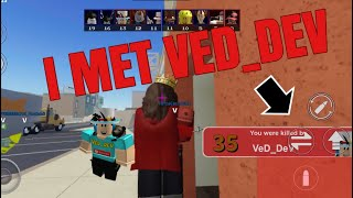 I Met VED_DEV in Roblox arsenal 😱 #Roblox #veD_deV #RobloxArsenal