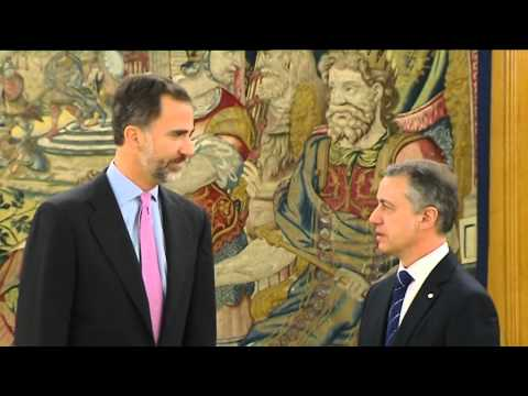 S.M. el Rey recibe en audiencia al lehendakari del Gobierno Vasco, Iñigo Urkullu