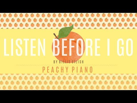 Listen Before I Go - Billie Eilish | Piano Backing Track