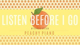Listen Before I Go - Billie Eilish | Piano Backing Track
