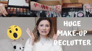 DECLUTTERING MY ENTIRE MAKEUP COLLECTION | Georgie Ashford