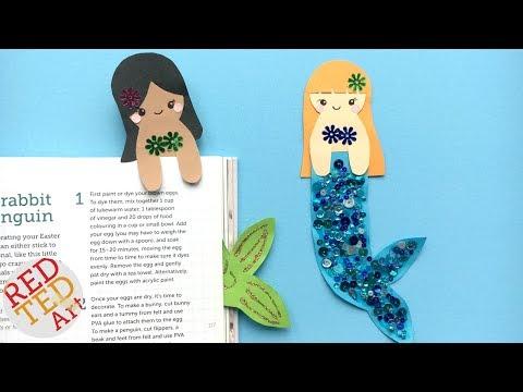 Kawaii Mermaid Bookmark Ideas - Cutest Hug a Book Bookmark DIY   Kawaii bookmarks