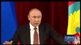 """Word for Word: Russian President Accuses """"Certain Forces in U.S."""" of Downplaying Summit (C-SPAN)"""