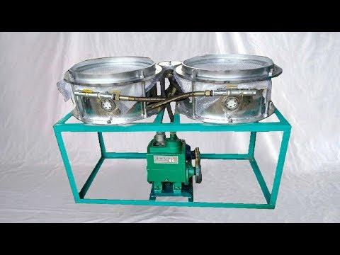 Edible Oil 100L Filter Vacuum Filtration Pump Double Barrels Machinery Filtre à Huile Comestible