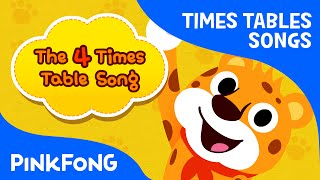 The 4 Times Table Song | Count by 4s | Times Tables Songs | PINKFONG Songs for Children