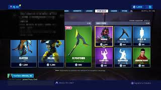 FORTNITE ITEM SHOP LIVE! GIFTING FREE SKINS! KEYBOARD AND MOUSE