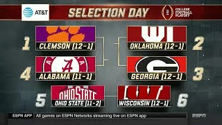 College Football Playoff Selection Show (12/3/17)