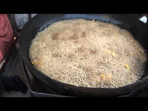 A delicious PAKORA stand at Garho, Thatta district, Sindh, Pakistan
