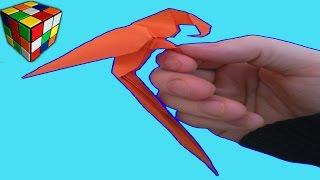 Оригами Попугай. Как сделать попугая из бумаги своими руками. Поделки из бумаги.(Учимся рукоделию! Оригами попугай. Видео научит вас как сделать попугая из бумаги своими руками! Простой..., 2016-09-01T15:00:02.000Z)