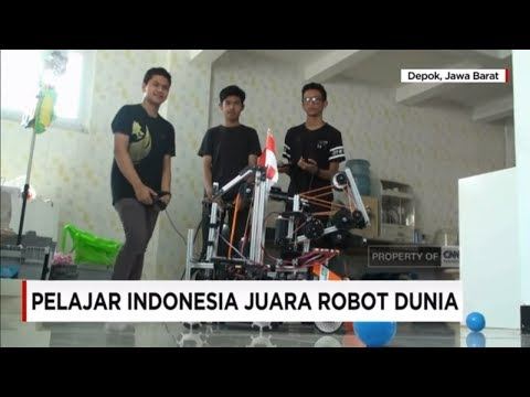 Membanggakan! Pelajar Indonesia Juara Robot Dunia