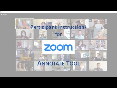 Zoom Annotate Tool - participant instructions