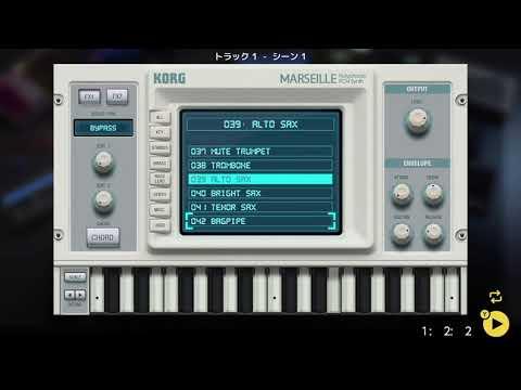 画像2: 04 01 メロディの音を選ぶ バレッドプレス KORG Gadget for Nintendo Switch講座 www.youtube.com