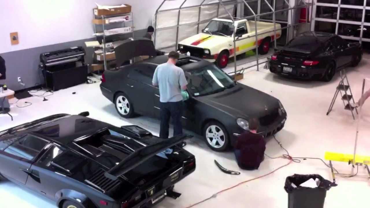 Download Mercedes Benz E320 Matte Black Wrap at NWAS