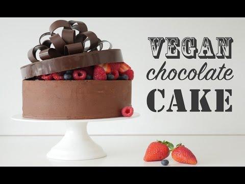 VEGAN CHOCOLATE CAKE RECIPE How To Cook That Ann Reardon & vegan frosting