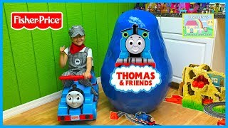 World's Biggest Thomas and Friends Egg Surprise Opening w/ TrackMaster Play Sets!