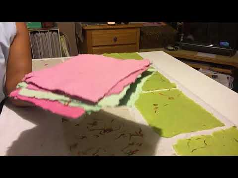 Simple way to dry recycled paper at home: Part 2