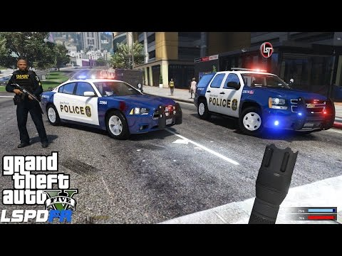 GTA 5 LSPDFR Police Mod 216 | Los Santos Metro Transit Police Pack | Attack In The Subway Station