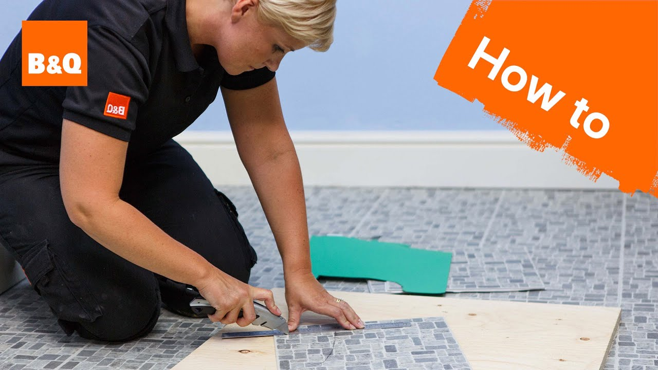 How To Lay Vinyl Tiles Carpet Part 3 Tiling Around Obstacles You