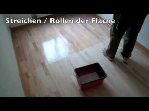 dielen lackieren mit wasserlack youtube. Black Bedroom Furniture Sets. Home Design Ideas