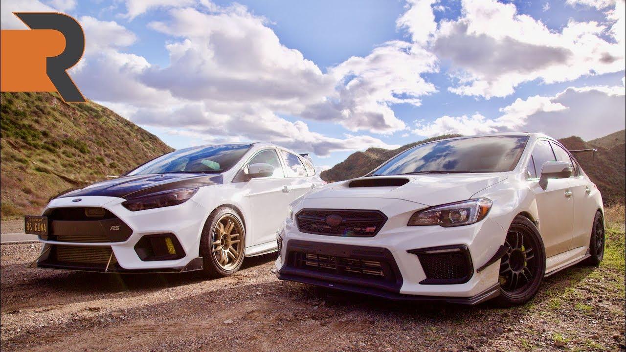 Ford Focus Rs Vs Sti >> Big Turbo 400HP Subaru STI vs. Tuned E85 Ford Focus RS ...