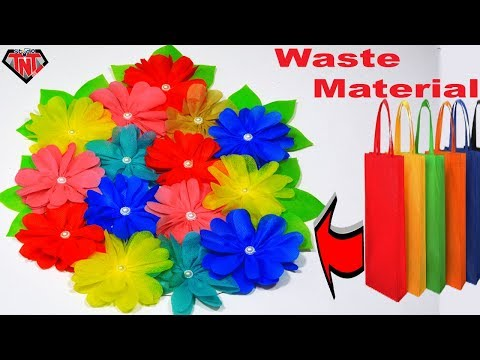 DIY Tote Bags Crafts || How To Make Shopping Bags Wall Hanging