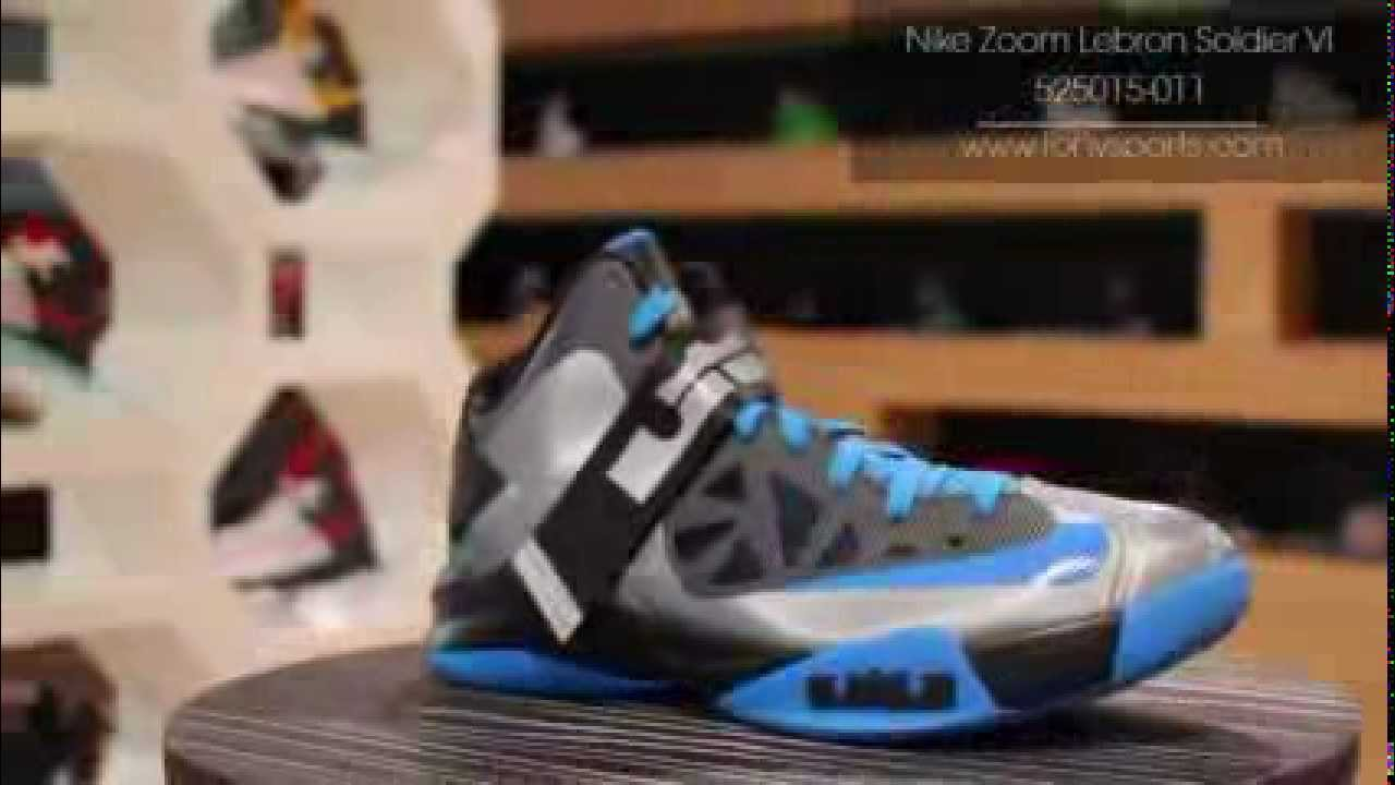 huge discount 638fd baefb Nike Zoom Lebron Soldier VI - Wolf Grey Black Photo Blue - 525015-011  www.tonysports.com