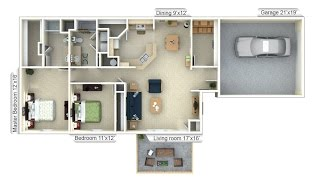 Abbey Floor Plan - Fox Chase Apartments In Cheswick, Pa