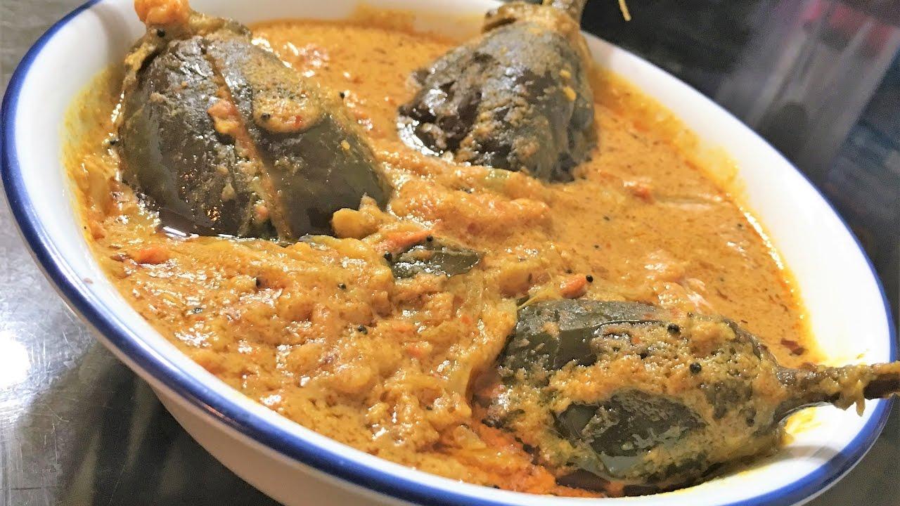 Stuffed Brinjal Curry Recipe | Eggplant Curry | Andhra ...  Stuffed Brinjal...