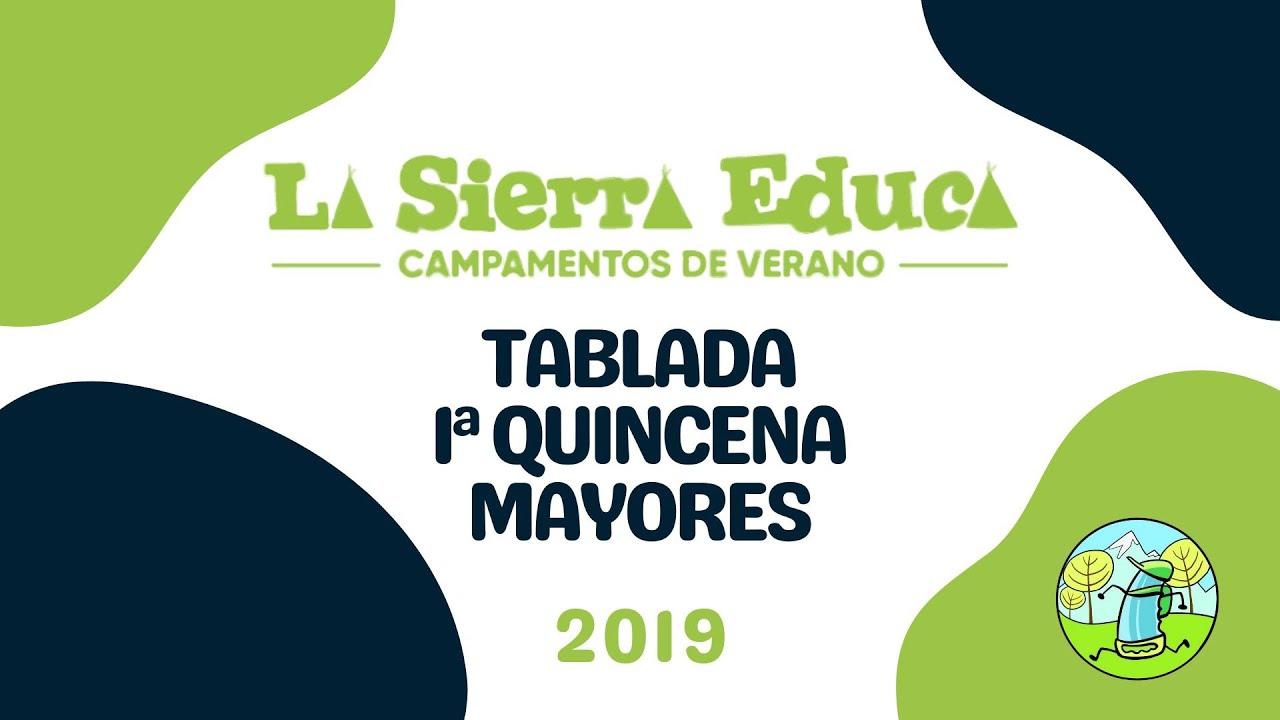 Tablada Mayores 2019 Primera Quincena Julio Campamento