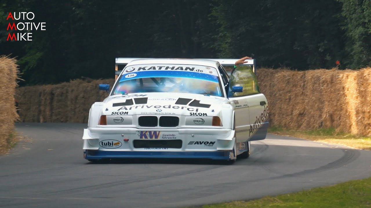 10.000+rpm BMW E36 V8 Judd SCREAMING Sounds at Goodwood Hillclimb.