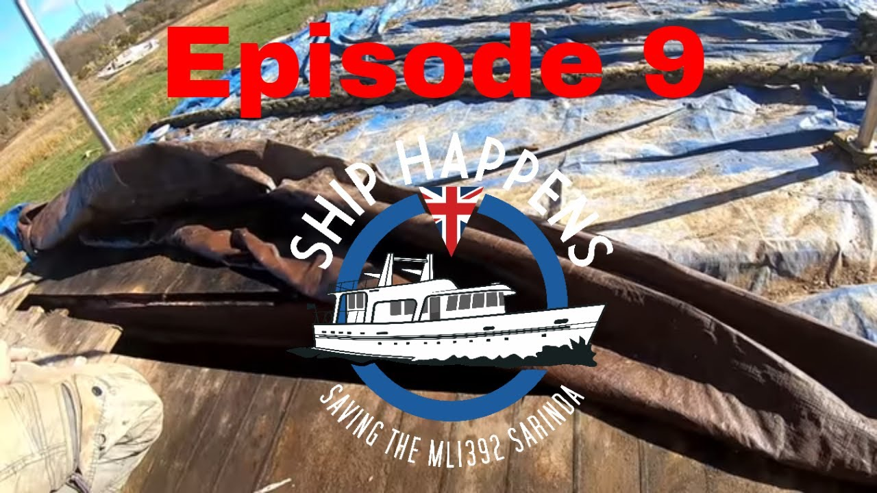 Ep 9 What awaits us under the poop deck cover? Restoring our wooden WW2 Ship - Ship Happens