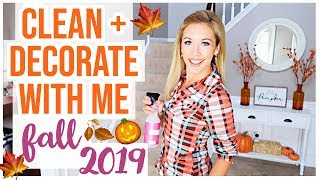 CLEAN + DECORATE WITH ME!  NEW FALL DECOR HOUSE TOUR 2019 | Brianna K
