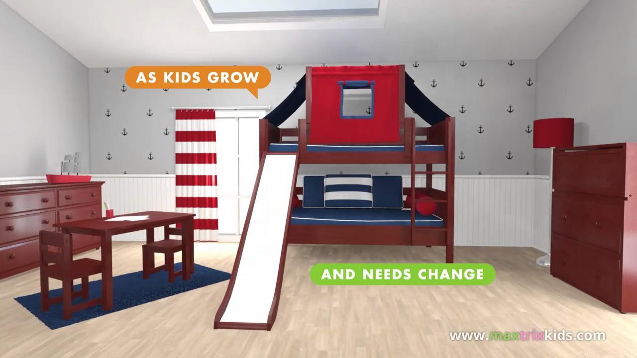 Maxtrix Boy S Room Modular Loft Bunk Beds Youtube