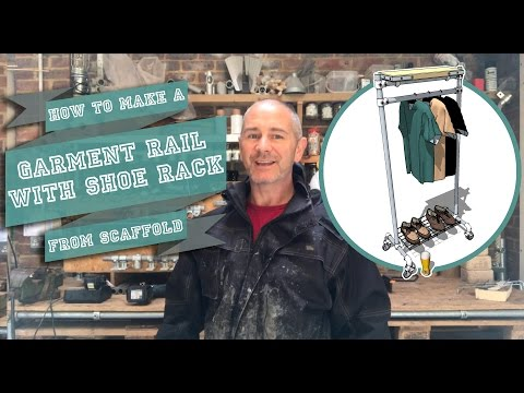 How to Make a Garment Rail with Shoe Rack from Scaffold